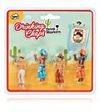 NPW-USA NP36046 Drinking Buddies Cowboy Chaps Cocktail/Wine Drink Markers (Set of 4)