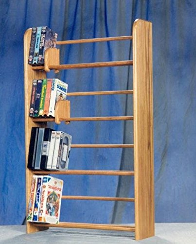 Honey Oak Woodshed 405 160 DVD Dowel Storage Rack (Wood Dowel Rack compare prices)