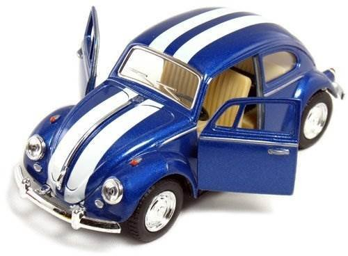 Set Of 4 Cars: 5 Classic 1967 Volkswagen Beetle With Racing Stripes 1:32 Scale (Blue/Red/White/Yellow) Color: Racing Stripes Set Of 4 Toy, Kids, Play, Children front-762891