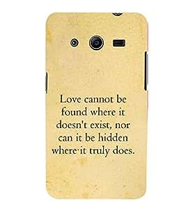Fuson Premium Printed Hard Plastic Back Case Cover for Samsung Galaxy Core 2