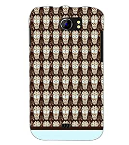 PrintDhaba Skull pattern D-1945 Back Case Cover for MICROMAX A110Q CANVAS 2 PLUS (Multi-Coloured)