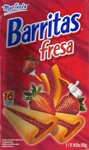 Amazon.com: Marinela Barritas Fresa Strawberry Filled Cookies 16 Ct