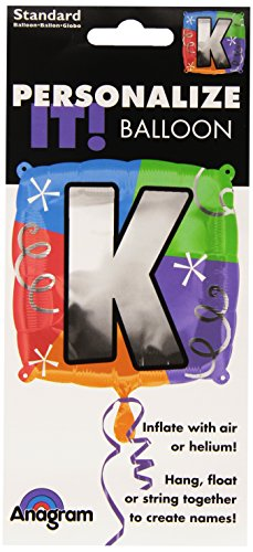 "Anagram International Letter K Quad Package Balloon, 18"", NA"
