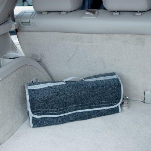 Auto Kofferraumtasche Grau mit Klettverschlüssen