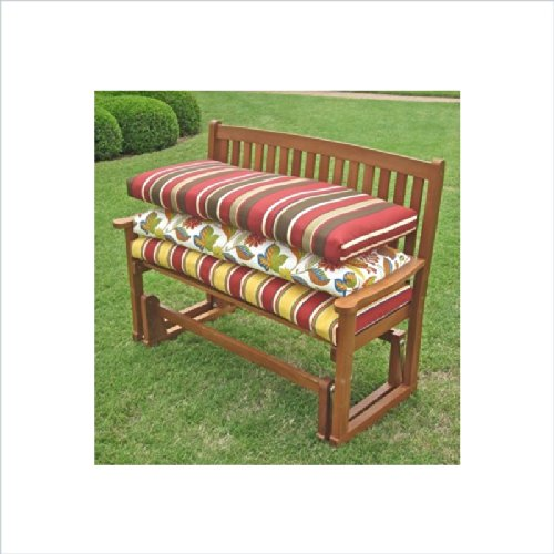Blazing Needles Outdoor 4 Ft. Patio Bench Cushion front-800679