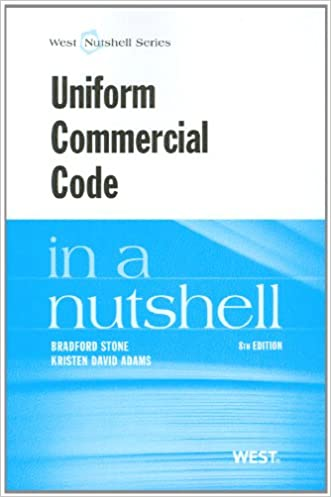 Uniform Commercial Code in a Nutshell
