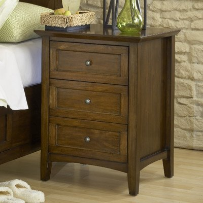 Modus Furniture International Paragon 3- Drawer Nightstand, Truffle front-245660