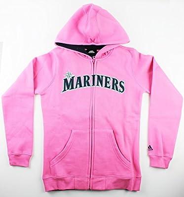 Seattle Mariners MLB Girls Size 7-16 Full Zip Fleece Hoodie