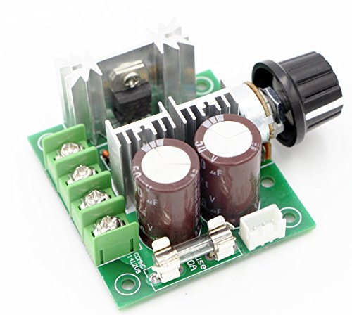 RioRand (TM) 12V-40V 10A PWM DC Motor Speed Controller w/ Knob--High Efficiency, High Torque, Low Heat Generating with Reverse Polarity Protection, High Current Protection (Motor 12v compare prices)