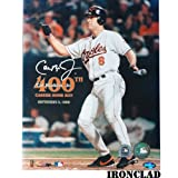 Cal Ripken Jr. Autographed 400th HR 8x10 w/#8 Insc.