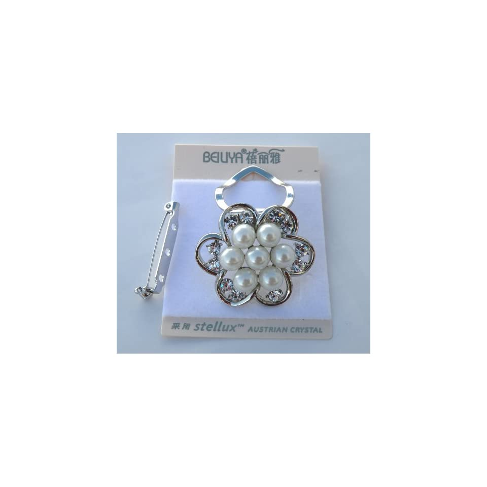 Designer Scarf Ring With Clip On Pin Brooch   Smoothly Touch,Fashionable and Elegant Metallic with Gorgeous Designs, Size Approx. 1.5 W x 1.5 H ,The Most Beautiful Accessories For Your Scarves and Clothes . Perfect Product For A Gifts Giving.Super Saving
