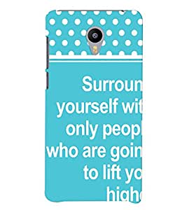 Printvisa Uplifting Thought And Quote Back Case Cover for vivo V3