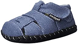 pediped Harvey Originals Fisherman Sandal (Infant/Toddler),Denim,X-Small (0-6 months)