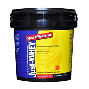 Sports Pharma Just-Whey, Strawberry Shake, 10-Pound