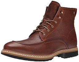Timberland Men\'s West Haven Moc Toe 6 Inch Waterproof Boot, Dark Brown Fog, 11 M US