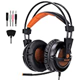 GHB Sades A55T Gaming Headset Lightweight Headphone with Microphone For PS4/Xbox 360/PC/Laptop/Cellphone Universal