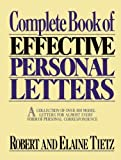 img - for Complete Book of Effective Personal Letters by Tietz Robert Tietz Elaine (1989-10-04) Paperback book / textbook / text book