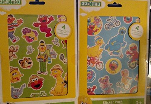 Sesame Street Sticker Pack - 4 Sheets - Elmo, Big Bird, Bert & Ernie