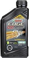 Castrol 06128 EDGE High Mileage Black ILSAC GF-5, API SN, ACEA A1/A5, ACEA B1/B5 5W30 Synthetic Motor Oil, 1 quart by Castrol