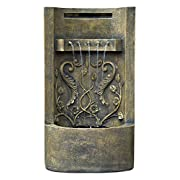 """The Tuscany - 26"""" Floor/Wall Fountain: Outdoor Water Feature perfect for Patios, Welcome Areas, Porches, Decks, Gardens and Other Living Spaces. Adjustable Pump. HF-F03-26"""