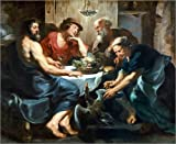 Poster 50 x 40 cm: Jupiter and Mercury at Philemon and Baucis. by Peter Paul Rubens / ARTOTHEK - high quality art print, new art poster