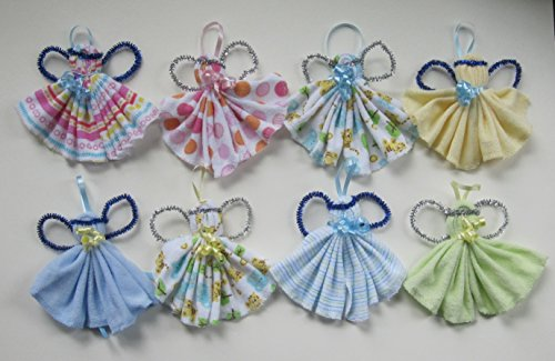 Baby Washcloth Crafted Angels for Keepsakes and/or Party Favors - 8 Packs DESIGNS VARY