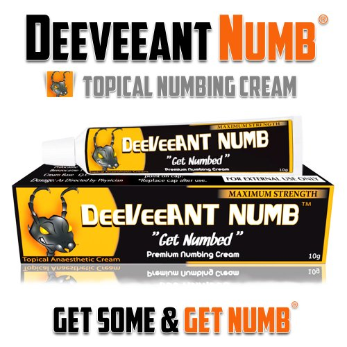Best Price Numbing Cream Anesthetic - Strong Fast Acting DEEVEEANT NUMB® - 1x10g - Lidocaine 5% Top...