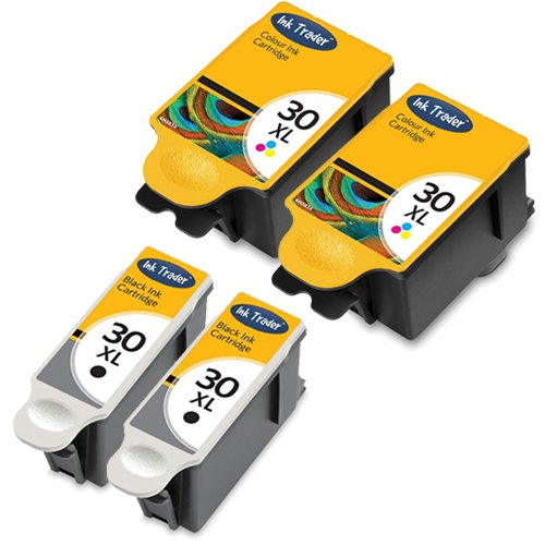 2x-kodak-30xl-high-capacity-compatible-black-2x-tri-colour-printer-ink-cartridges-for-use-with-kodak