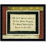 Dance In The Rain Poem Gift Sign Wall Art Print Framed
