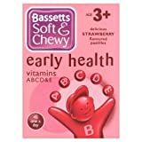 Bassett's Soft & Chewy Early Health Vitamins ABCD&E - Strawberry Flavour 45 Pastilles