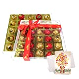 Chocholik Luxury Chocolates - A Bright Colored Special Gift Chocolate Box With Birthday Card