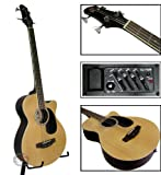 New Natural Electric Acoustic Bass Guitar W/ Equalizer