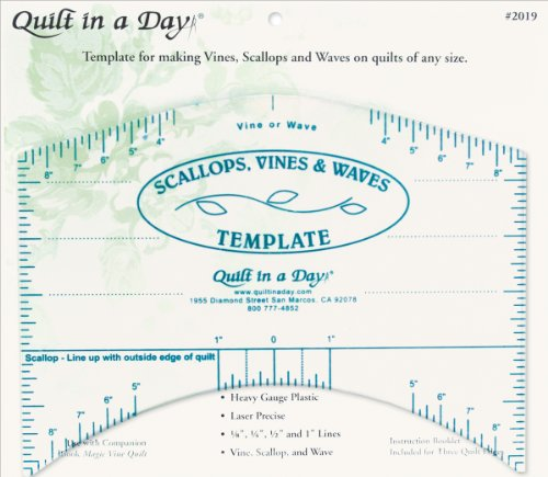 Best Buy! Quilt In A Day Scallops, Vines & Waves Template