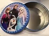 Disney Frozen 9 1/2 Cookie Tin Olaf Elsa