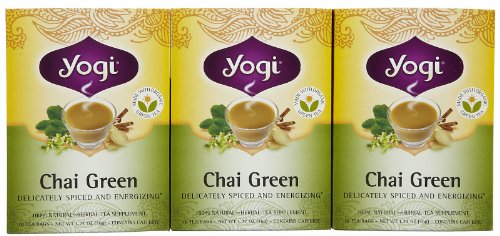 Yogi Tea Chai Green, Herbal Supplement, Tea Bags, 16 Ct, 3 Pk