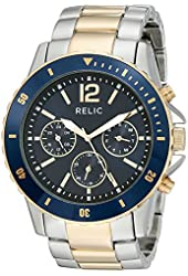 Relic Men's ZR15772 Jaxton Silver & Gold Two-Tone Watch