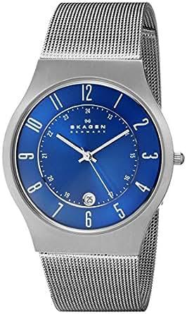 Skagen Men's 233XLTTN Grenen Quartz 3 Hand Date Titanium Gray Watch