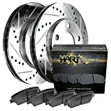 1978-1979 Chevette Front Hart Drilled Slotted Brake Rotors and Ceramic Pads