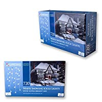 Christmas Workshop 87880 720 LED Snowing Icicle Lights - Bright White from Benross Group