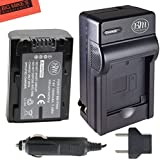 Replacement NP-FH50 Battery + Charger for Sony CyberShot DSC-HX1 DSC-HX100V DSC-HX200V HDR-TG5V Digital Camera + More!!