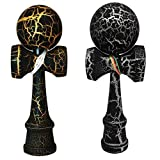 2 Pack Kendama Toy Co. The Best Pocket Kendama For Tons Of Fun (Not Full Size) Fancy Colors: Black/Silver And...