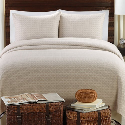 Lamont Home Lamont Home Lanai Coverlet Set, White / Cream, Cotton, Full/Queen front-883077