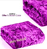 SRS Brown Floral Double Bed Blanket