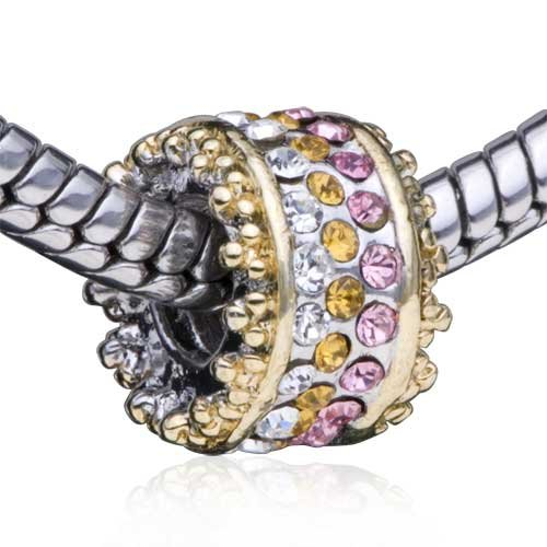 Bling Pandora Charm Compatible Swarovski Crystal Birthstone Bead Fits Pandora Bracelet