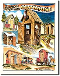 "Bates - Outhouses Metal Tin Sign 12.5""W x 16""H"