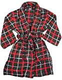 Private Label - Boys Fleece Plaid Robe