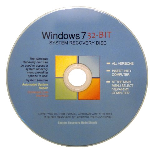 Windows 7 32 Bit Recovery Boot Disc Disk CD [ALL