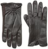 Isotoner Men's Smartouch Stretch Leather Glove with Leather Palm