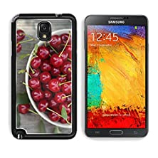 buy Msd Samsung Galaxy Note 3 Aluminum Plate Bumper Snap Case Fresh Sour Cherry In A Bowl On A Wooden Table Image 25760534