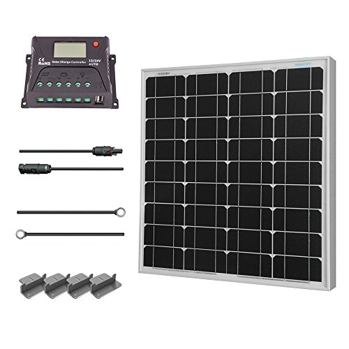 Renogy 50 Watt 12 Volt Monocrystalline Solar Starter Kit (Starter Solar Panel Kit compare prices)